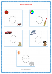 Alphabet Tracing Worksheets - Alphabet Tracing Sheets - Small Letters - Recap a-e