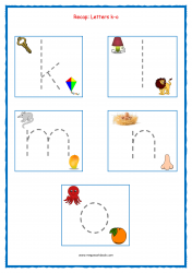 Alphabet Tracing Worksheets - Alphabet Tracing Sheets - Small Letters - Recap k-o