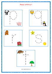 Alphabet Tracing Worksheets - Alphabet Tracing Sheets - Small Letters - Recap p-t