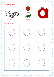 Alphabet Tracing Worksheets - Alphabet Tracing Sheet - Small a - Free Printables