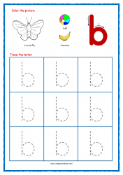 Alphabet Tracing Worksheets - Alphabet Tracing Sheet - Small b - Free Printables