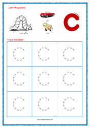 Alphabet Tracing Worksheets - Alphabet Tracing Sheet - Small c - Free Printables