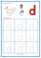 Alphabet Tracing Worksheets - Alphabet Tracing Sheet - Small d - Free Printables