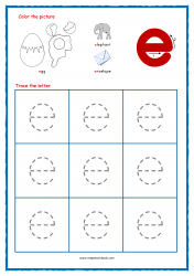 Alphabet Tracing Worksheets - Alphabet Tracing Sheet - Small e - Free Printables