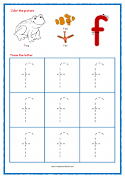 Alphabet Tracing Worksheets - Alphabet Tracing Sheet - Small f - Free Printables