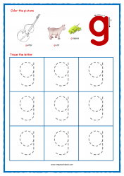 Alphabet Tracing Worksheets - Alphabet Tracing Sheet - Small g - Free Printables