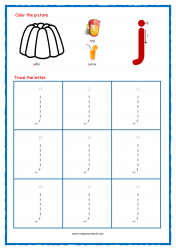 Alphabet Tracing Worksheets - Alphabet Tracing Sheet - Small j - Free Printables