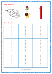 Alphabet Tracing Worksheets - Alphabet Tracing Sheet - Small l - Free Printables