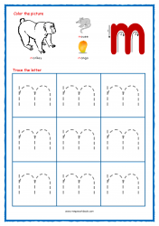 Alphabet Tracing Worksheets - Alphabet Tracing Sheet - Small m - Free Printables