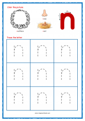 Alphabet Tracing Worksheets - Alphabet Tracing Sheet - Small n - Free Printables