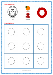 Alphabet Tracing Worksheets - Alphabet Tracing Sheet - Small o - Free Printables