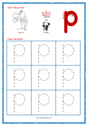 Alphabet Tracing Worksheets - Alphabet Tracing Sheet - Small p - Free Printables