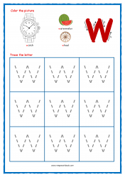 Alphabet Tracing Worksheets - Alphabet Tracing Sheet - Small w - Free Printables