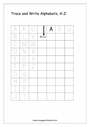 English Worksheet - Alphabet Writing - Capital Letters A-Z