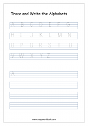 Alphabet Tracing Printables - Free Alphabet Tracing Worksheets - Uppercase/Capital Letters A-Z