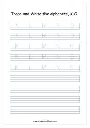 English Worksheet - Alphabet Writing - Capital Letters K-)