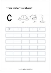 English Worksheet - Alphabet Writing - Capital Letter C