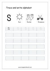 English Worksheet - Alphabet Writing - Capital Letter S