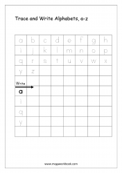 English Worksheet - Alphabet Writing - Small Letters a-z