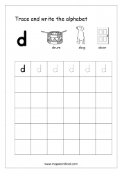 Alphabet Writing - Alphabet Writing Practice - Lowercase/Small Letter d