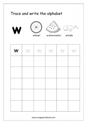 Alphabet Writing - Alphabet Writing Practice - Lowercase/Small Letter w