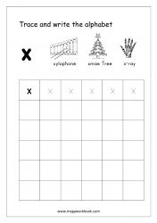 Alphabet Writing - Alphabet Writing Practice - Lowercase/Small Letter x