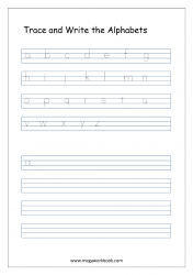 Alphabet Writing - Alphabet Writing Worksheets - Lowercase/Small Letters a-z