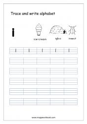 English Worksheet - Alphabet Writing - Small Letter i