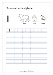 Alphabet Writing - Alphabet Writing Worksheets - Lowercase/Small Letter l