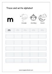 Alphabet Writing - Alphabet Writing Worksheets - Lowercase/Small Letter m