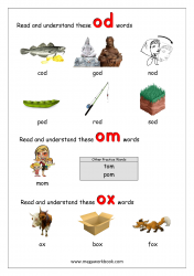 'od/om/ox' Word Family