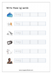 CVC Words Ending With 'ag' (CVC Words Writing Worksheets)