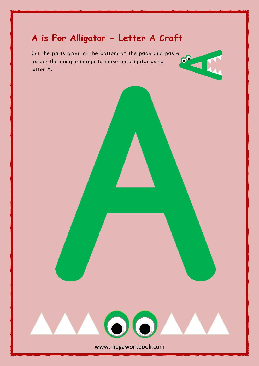 Letter A Activities Letter A Worksheets Letter A Activity Printables For Preschool And Kindergarten Megaworkbook