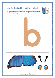b for butterfly - Small B