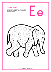 Letter Hunt (E For Elephant)