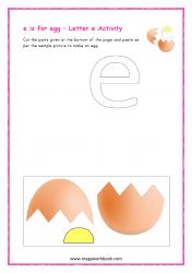 e for egg - Small e