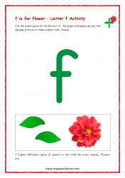 f for flower - Small f