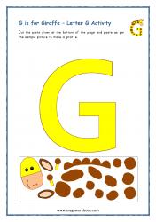 G for Giraffe - Capital G