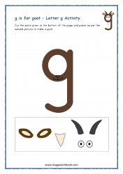 g for goat - Small g