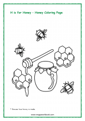 Honey Coloring Page