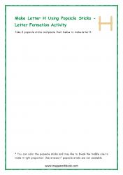 Letter H Formation
