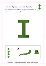 I for Iguana - Capital I