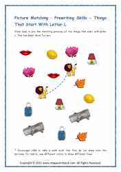 Things Starting With L - Letter L Worksheet & Printable Activity
