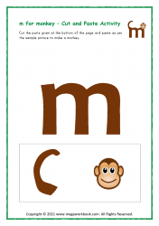 m for monkey - Small m