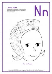 Letter Hunt (N For Nurse)