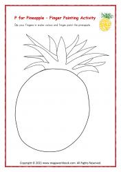 Finger Painting (P For Pineapple)