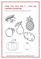 Fruits/Vegetable Coloring