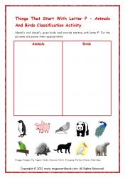 Birds/Animals Starting P