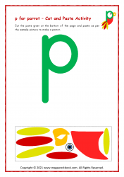 p for parrot - Small p