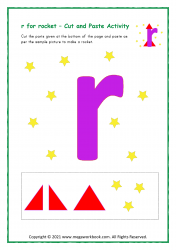 r for rocket - Small r